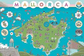 Die Insel im Comic-Stil: Das Deckblatt des Kalenders schuf Alex Fito.