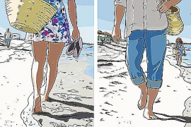Die Insel im Comic-Stil, gezeichnet von Margalida Vinyes.