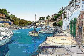 Die Insel im Comic-Stil, gezeichnet von Pere Joan.
