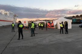 Spektakuläre Notfallübung im Hafen von Palma