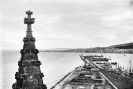 Blick über Palma im Wandel der Zeit