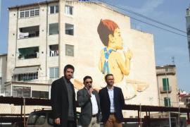 Wandgemälde am Bahnhof in Palma eingeweiht