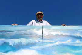 """""""Seestücke"""" nennt Gehlen auch seine Meeres- und Küstenbilder, die er in Son Bauló ausstellt."""