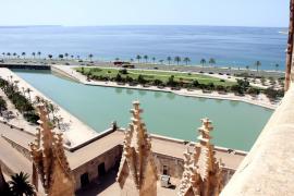 Die Terrassen der Kathedrale sind wieder offen