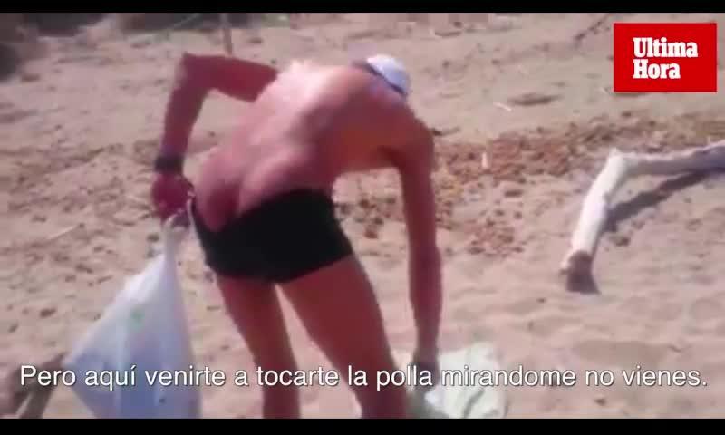 Frau vertreibt Exhibitionist von Strand auf Mallorca