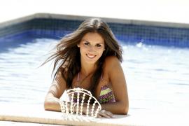 Marina Rosselló bei einem Fotoshooting als Miss Baleares im Jahr 2012.