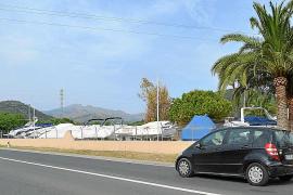 An der Zufahrtsstraße Richtung Port d'Andratx befindet sich einige der Trockenstellplätze