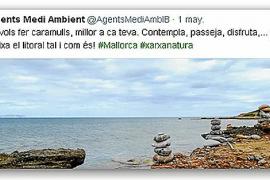 """Per Tweet machten Experten des balearischen Umweltministeriums auf die gefährlichen """"Steinmännchen"""" aufmerksam."""
