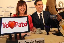 Armengol (links) fordert nun einen Zusammenschluss der Kandidaturen von Patxi López und Pedro Sánchez (rechts).