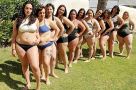 Plus-Size-Models auf Mallorca zeigen Haut