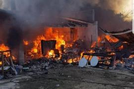 Zwei Personen aus brennender Finca gerettet