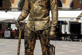 Lebende Statue auf der Plaza Mayor.