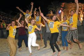Mehr als 50 junge Christen sind in diesen Tagen an der Playa de Palma unterwegs
