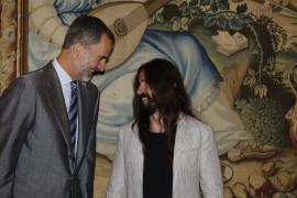 Der König mit dem Republikaner Baltasar Picornell.