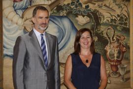 Francina Armengol war am Freitag die erste Besucherin bei Felipe.