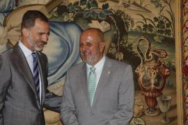 Das Treffen mit Miquel Ensenyat war der vierte Termin des Monarchen am Freitag.