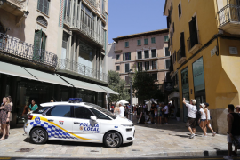 Am Freitag war die erhöhte Polizeipräsenz in der Stadt zu spüren.