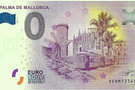 Mallorca auf einem (nicht ganz echten) Euro-Schein