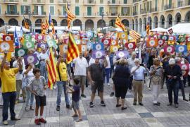 Demo für Unabhängigkeit Kataloniens auf Mallorca