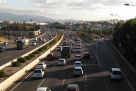 Morgendlicher Stau auf Ringautobahn