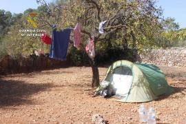 Polizei schließt illegale Campingplätze auf Mallorca
