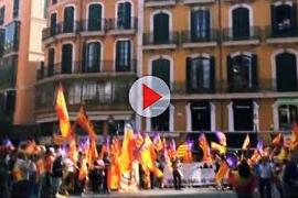 Pro-Spanien-Demonstration auf Palmas Rathausplatz