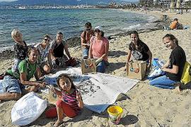 Reinigungsaktion für Strand Can Pere Antoni