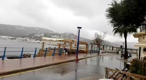 So regnete es am Freitag in Port d'Andratx