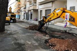 Winter-Bauarbeiten in Cala Millor