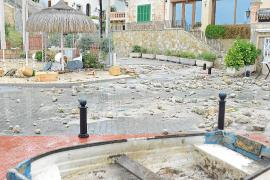 Auch in Peguera waren nach dem Sturm Aufräumarbeiten notwendig.