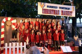 Musikevent auf dem Weihnachtsmarkt in Puerto Portals.