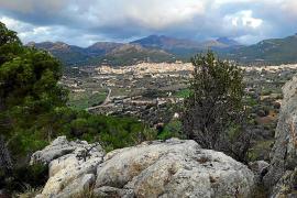 Ein Blick über die Landschaft.