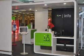 Neue Info-Schalter am Flughafen Palma