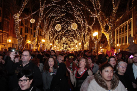 Palma feierte Silvester gleich an zwei Orten