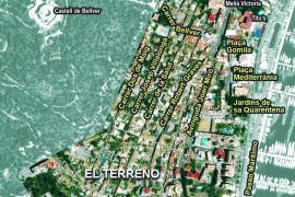 Das El-Terreno-Viertel wird von einer Hand voll Straßen durchzogen.