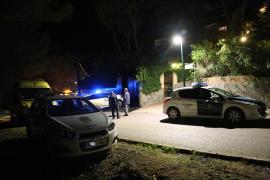 Polizeieinsatz in Costa d'en Blanes auf Mallorca.