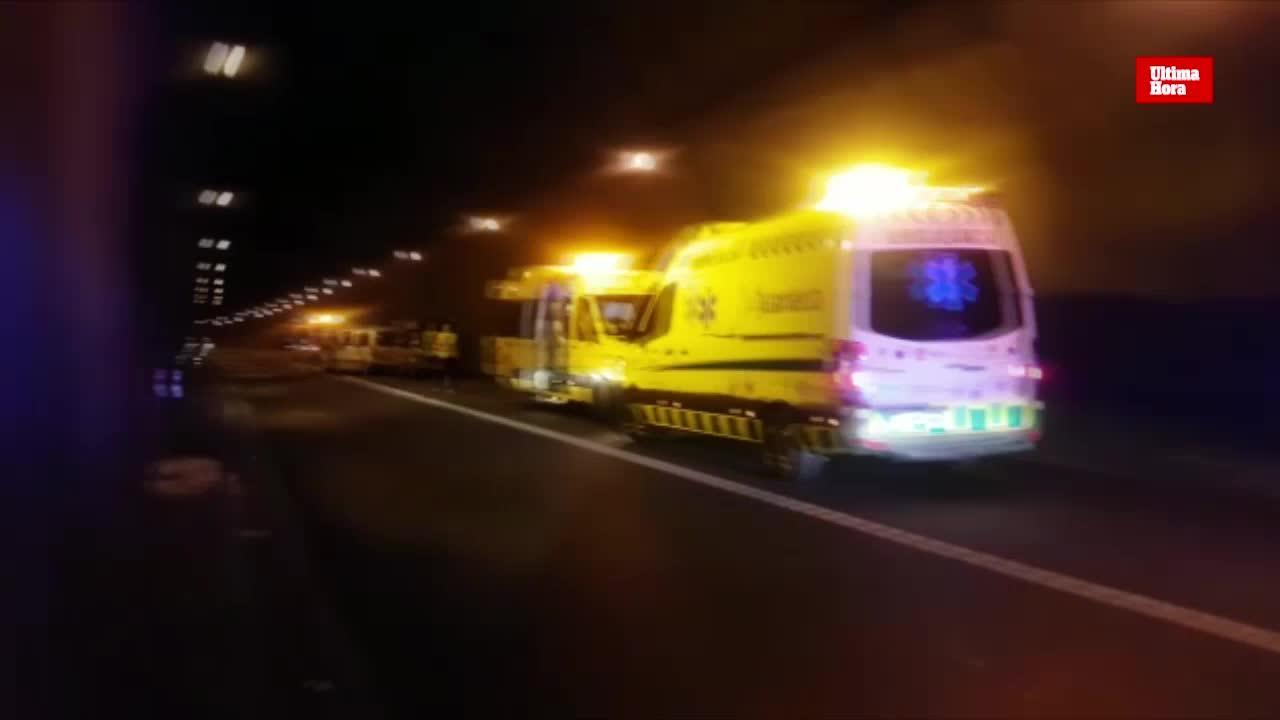 Tunnel Son Vich wegen Unfall gesperrt