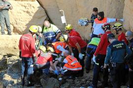 62-Jähriger stürzt in Puig de Ros von Felsen