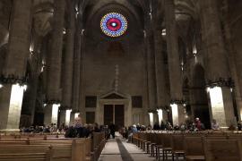 Lichtspiel in der Kathedrale fiel ins Wasser