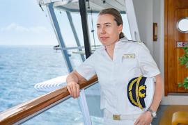 Eine Frau als Kapitän auf der Aida-Sol