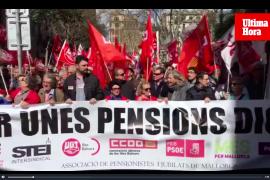 Großdemo für gerechtere Renten in Palma de Mallorca