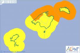 Für Dienstag gelten auf Mallorca die Warnstufen Orange und Gelb.