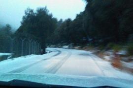 Schnee zum Frühlingsanfang auf Mallorca