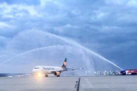 Erster Airbus von neuer Thomas-Cook-Airline gelandet