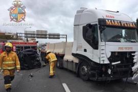 Verkehrskollaps nach Unfall auf Palmas Ringautobahn