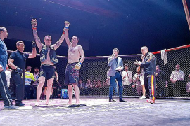 K.o.-Sieger Stefan Milojevic nach dem MMA-Kampf auf Mallorca.