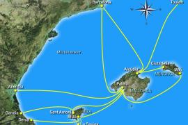 Das sind die Fährverbindungen nach Mallorca.