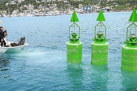 Neue Signalbojen im Hafen von Andratx im Einsatz
