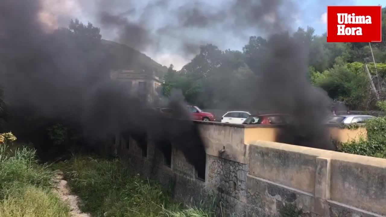 Drei Verletzte bei Parkhausbrand in Esporles
