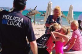 Mädchen verlor Mutter an der Playa de Palma